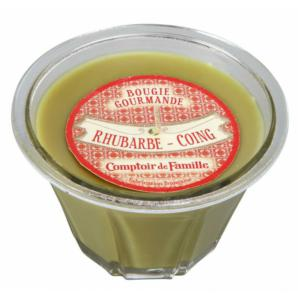 "Bougie gourmande  "" Rhubarbe Coing """